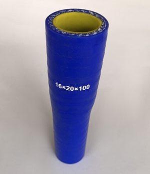Патрубок переходной силикон d=16/20 L100